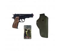 1125/6 Игровой набор пистолет на 8 пистонов, кобура Gonher