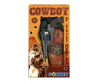 Игровой набор револьвер на 12 пистонов, кобура Gonher 149/0