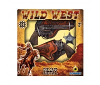 Игровой набор 2 револьвера на 8 пистонов, звезда шерифа, 2 кобуры Gonher 158/0