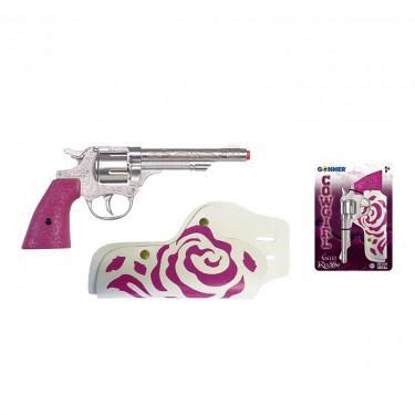 Игровой набор револьвер на 8 пистонов, кобура Gonher 180/2F