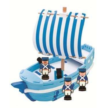 Конструктор Bebox Военный корабль