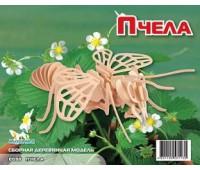 Сборная деревянная модель Пчела (Е030)