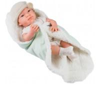 05018 Кукла Бэби с одеяльцем, салатовый