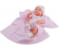 Кукла Бэби с розовым пледом