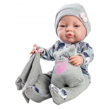 Кукла Бэби с одеяльцем и подушкой-медвежонок