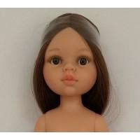 14825 Кукла Кэрол б/о, 32 см (прямые волосы до щиколоток, пробор прямой, глаза карие)