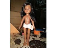 15029 Кукла Нора, 32 см (волосы прямые, боковой пробор, глаза карие)