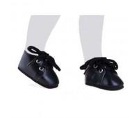 64444 Ботинки черные со шнурками для кукол 32 см