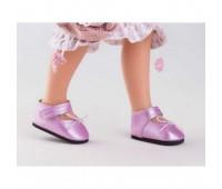 64445 Туфли розовые с липучками для кукол 32 см