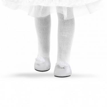 Туфли белые с цветочком для кукол 32см, 64562