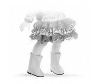 64582 Сапоги белые для кукол 32см