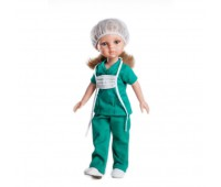 Комлект (одежда+обувь) для куклы Карла медсестра 32 см