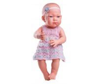 05014 Кукла Бэби в розовом платье, 36 см