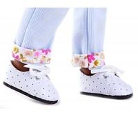 Ботинки белые со шнурками для кукол 32 см