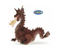 39016 Красный дракон с пламенем