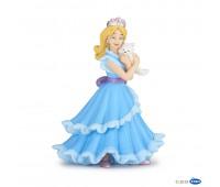 39125 Принцесса в голубом с кошкой