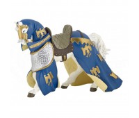 Конь в попоне синий