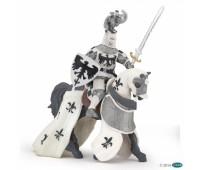 Белая драпированная лошадь