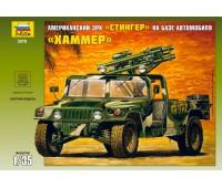 """Сборная модель Американский зенитный комплекс """"Стингер"""" на базе автомобиля """"Хаммер"""" (3576)"""