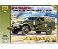 """Сборная модель Американский бронетранспортер (с тентом) М3 """"Скаут"""" (3581)"""