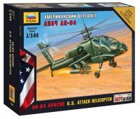 Сборная модель Американский вертолет Апач АН-64 (7408)